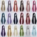 32 '' / 80 см Harajuku аниме косплей парики длинные прямые волосы парик синтетический удары костюм ну вечеринку для косплея для женщин 18 цветов