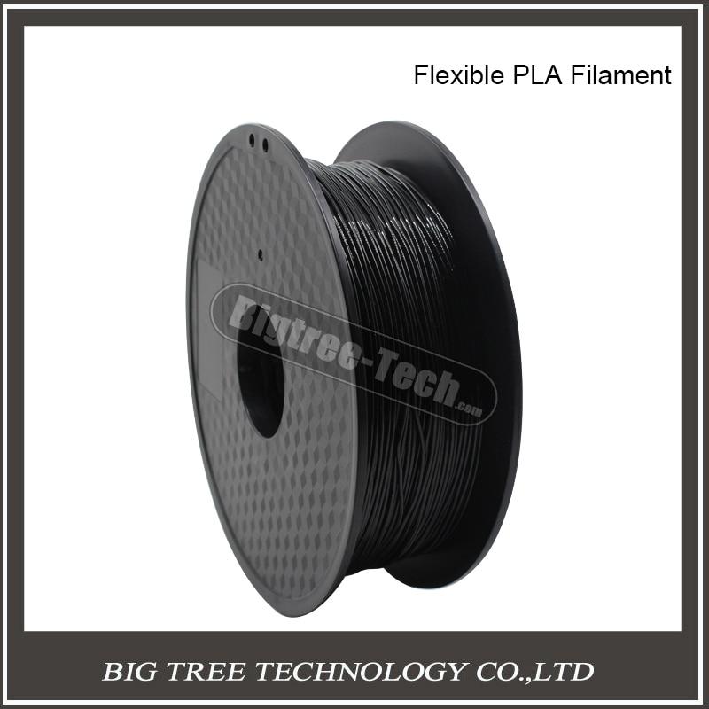 ФОТО 3D printer special  Black soft filament PLA for  1.75mm 0.8kg
