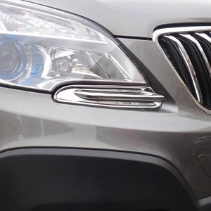 Image 4 - พอดีสำหรับOpel Vauxhall Mokka/Buick Encore Chromeด้านหน้าTrim Head Lamp Bezel Granish Molding 2012 2013 2014 2015 2016