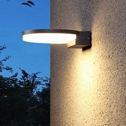 Wecus lampa zewnętrzna oświetlenie naścienne led ganek balkon światło ogrodowe wodoodporny kinkiet zewnętrzny przemysłowe oświetlenie dekoracyjne na zewnątrz