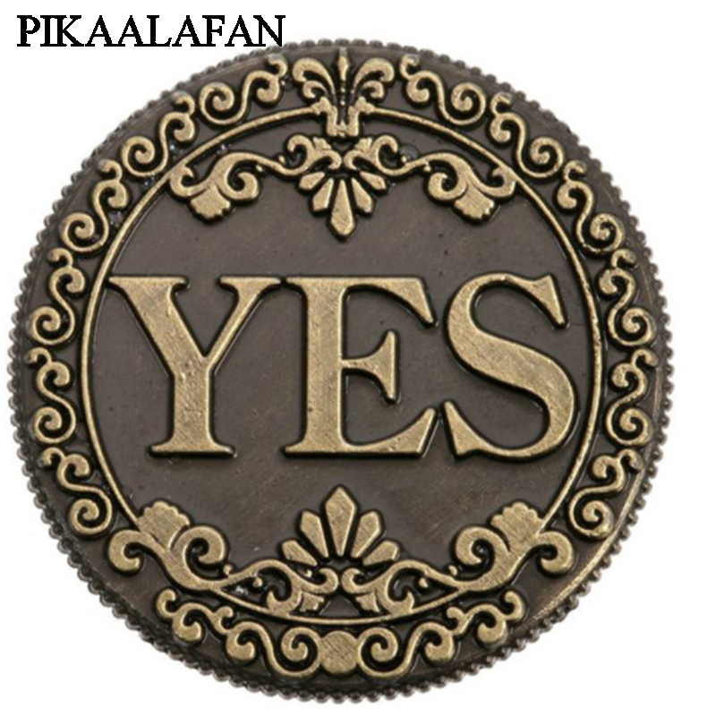 Pikaalafan Yes&no Bronze Coin Coin Gift Collection Currency Commemorative Coins