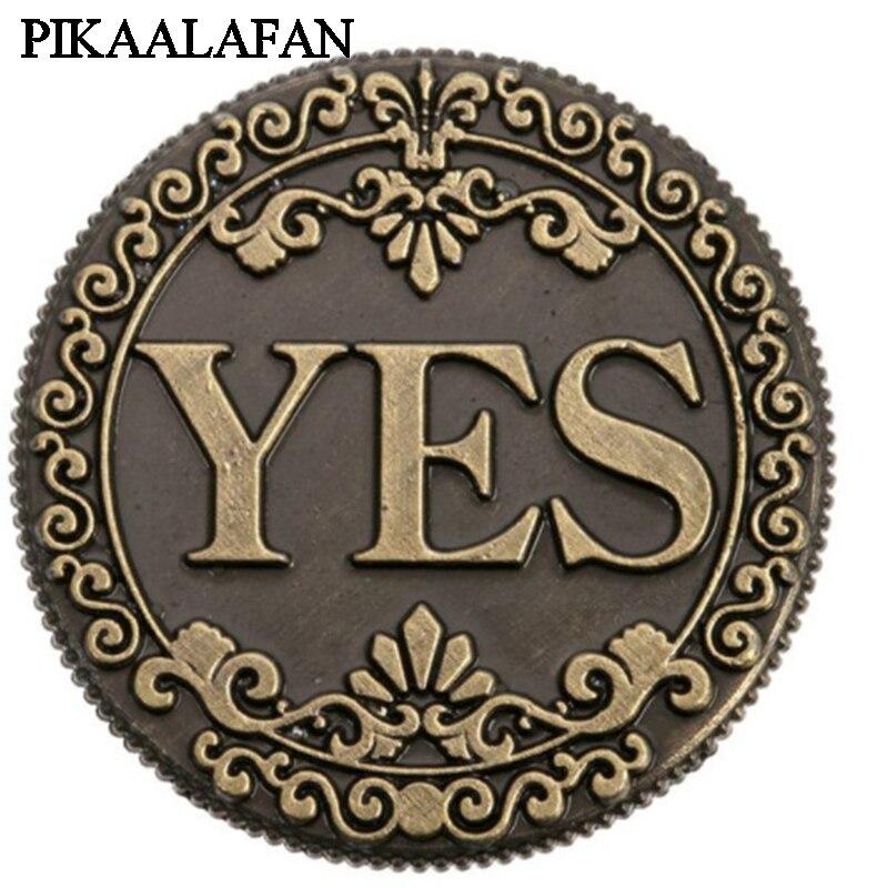 PIKAALAFAN oui et non pièce de monnaie en Bronze
