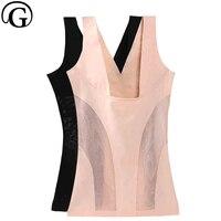Women thin sexy underwear waist trainer body shaper lady tummy control shaper lingerie slimming vest tops push up bra lift