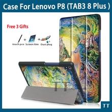 """Alta Calidad caso de la cubierta Para Lenovo TAB 3 Plus 8 8703x TB-8703F TB-8703N 8.0 """"Tablet Pc TAB3 TB-8703 Flip cubierta de Cuero Delgada de LA PU"""