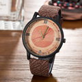 2016 Casual BGG Brand Wood Retro Women Watches High Quality Vintage Leather Quartz Clock Woman Fashion Simple Face Wooden Watch