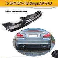 Car Rear Bumper Lip Spoiler Diffuser for BMW E82 E88 M Sport 2 Door 120i 125i 128i 135i 2007 2013 Four Outlet Carbon Fiber / FRP