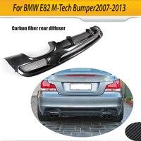 For E82 E88 Carbon Fiber Car Rear Bumper Lip Spoiler Diffuser for BMW E82 E88 M Sport 2 Door 07 13 Convertible Four Outlet