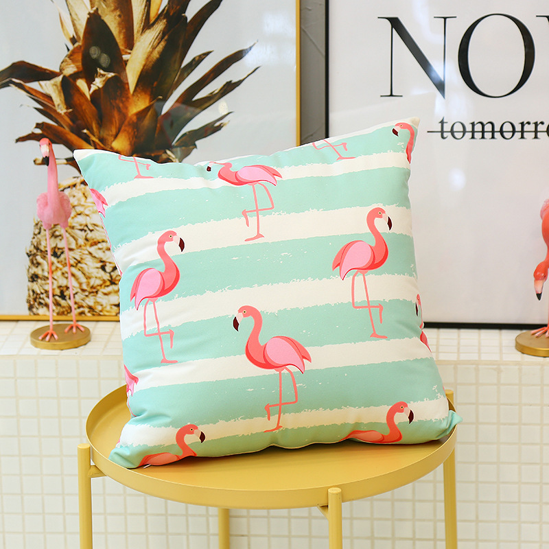 Cute Flamingo Cushion Pillow Case Flamingo Party Bedroom Sofa Home Decoration accessories Birthday/Wedding Favors and Gifts 15