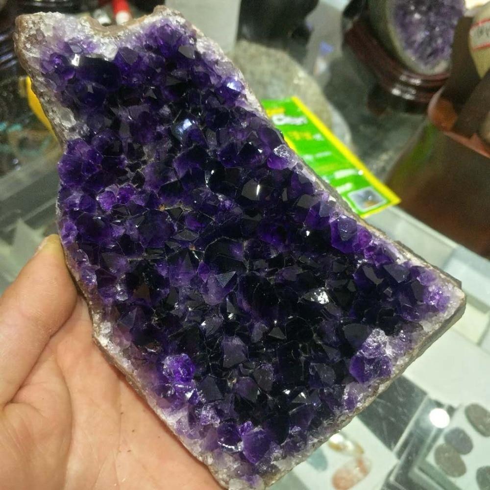 Brasile più belli del minerale naturale viola cluster di cristallo è molto viola decorazione di cerimonia nuziale acquario-in Pietre da Casa e giardino su  Gruppo 3