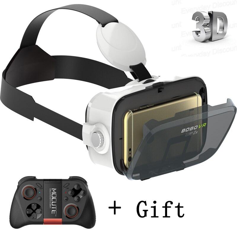 Bobovr Z4 мини Google carboard 3D виртуальной реальности Гарнитура VR Очки VR коробка с Bluetooth Беспроводной Мышь Управление геймпад