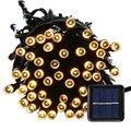 Открытый 100 LED Водонепроницаемый Солнечные Огни Строки, 40FT Звездное Фея Освещение Декор для Елки, сад, патио, свадьба
