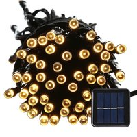 Outdoor 100 LED Waterproof Solar String Lights 40FT Starry Fairy Lighting Decor For Christmas Trees Garden
