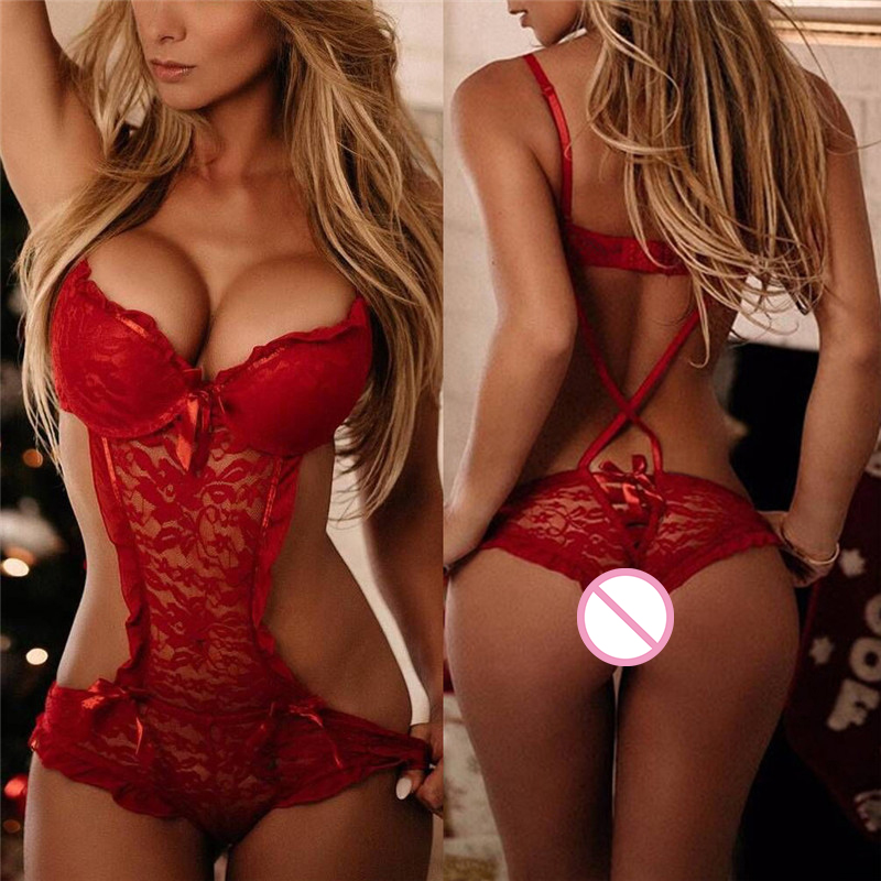 Hot Lace Nightgowns Sleepwear Babydolls Red Teddies <font><b>Sexy</b></font> Costumes <font><b>Lingerie</b></font> Underwear Plus Size S/M/L/XL/<font><b>XXL</b></font>/XXXL image
