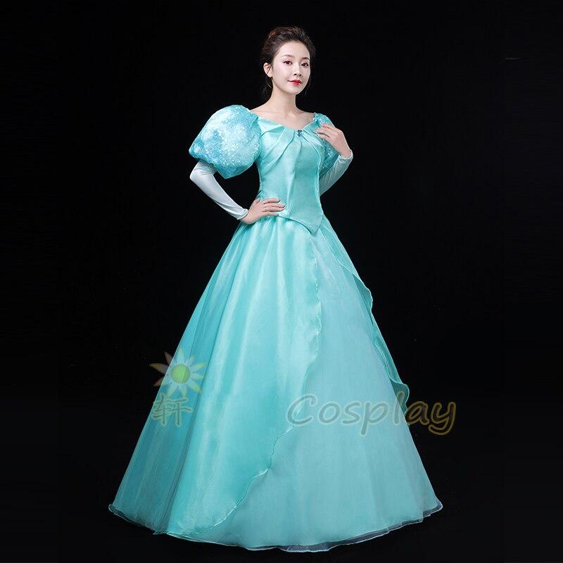 La petite sirène Ariel haut de princesse qualité mode Cosplay Costume robe pour Halloween Costumes de fête sur mesure