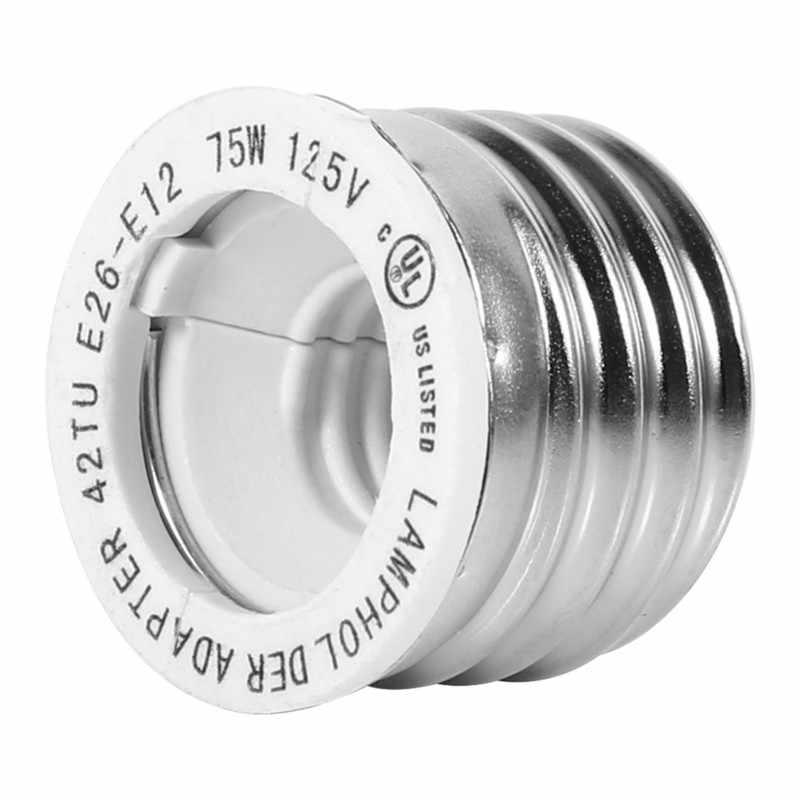 2 шт. термостойкий E27 E26 до E12 лампа база лампочка патрон переходник преобразователь без пожаротушения 250 В 1000 Вт Макс гнездо держатель