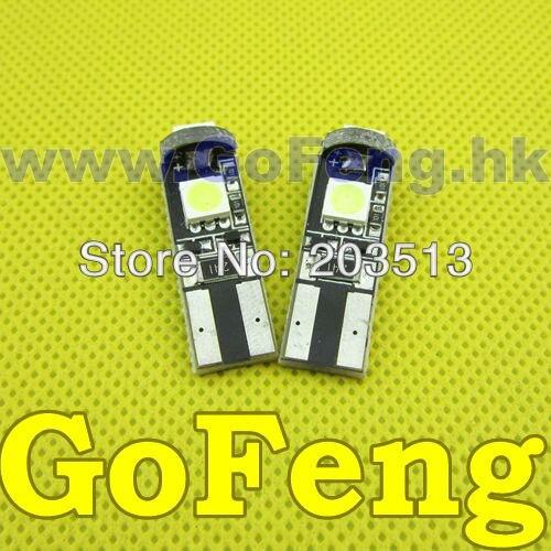 10 pcs/lot Car ERROR FREE CANBUS W5W T10 3LED 5050 Black PCB BULB LIGHT Free Shipping