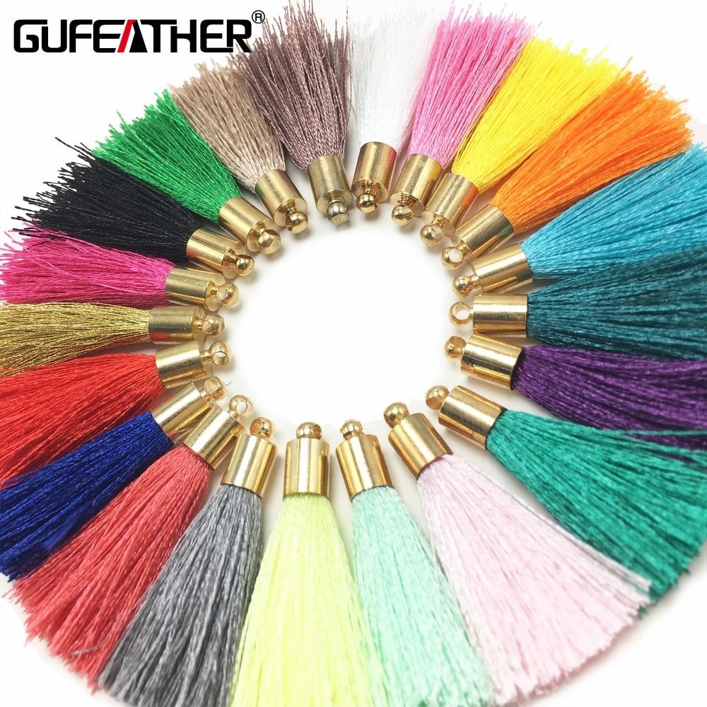 GUFEATHER L32/4cm/Tassel/Golden Hat Silk Tassel/jewelry Accessories/accessories Parts/jewelry Findings 10pcs/bag