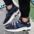 Nuevos Hombres de La Manera Ocasional Y3 Zapatos Coreanos Transpirable de Alta Superior Zapatos de Plataforma Masculina Altura Aumento de Zapatos Para Caminar Zapatos Hombre