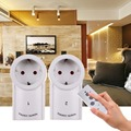 Free Shipping EU Plug 2 Pack 230v-50Hz 10A Remote Control Wireless Power Outlets Light Switch Socket