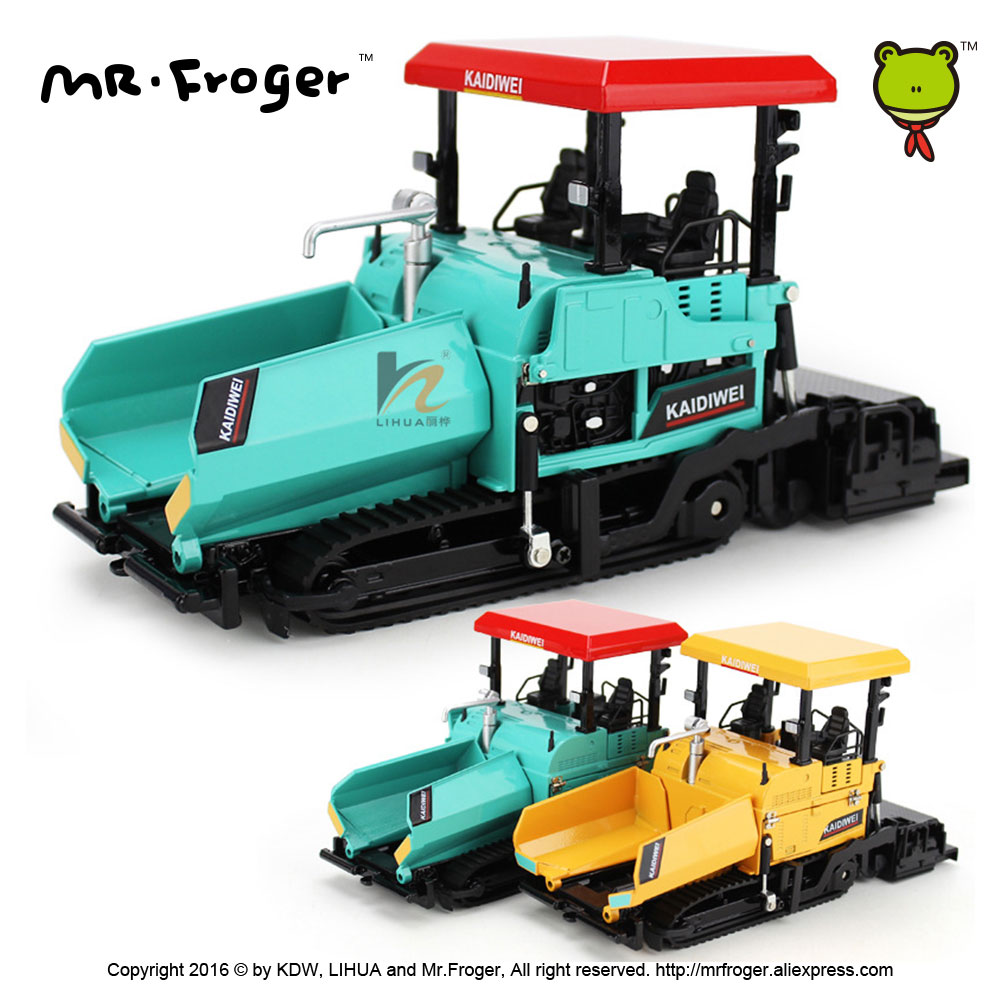 Mr.Froger KDW Diecast Models Scale Cars 1:43 Metal RC Truck Toy For Children Paver Classic Alloy Car Model Collectible Kids Gift