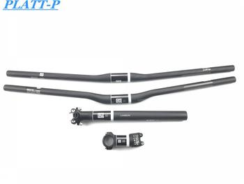 New PLATT U D Mat Full Carbon Road Bike Handlebar Kit Mtb Carbon Handlebar + Stem + seatpost MTB Bike parts