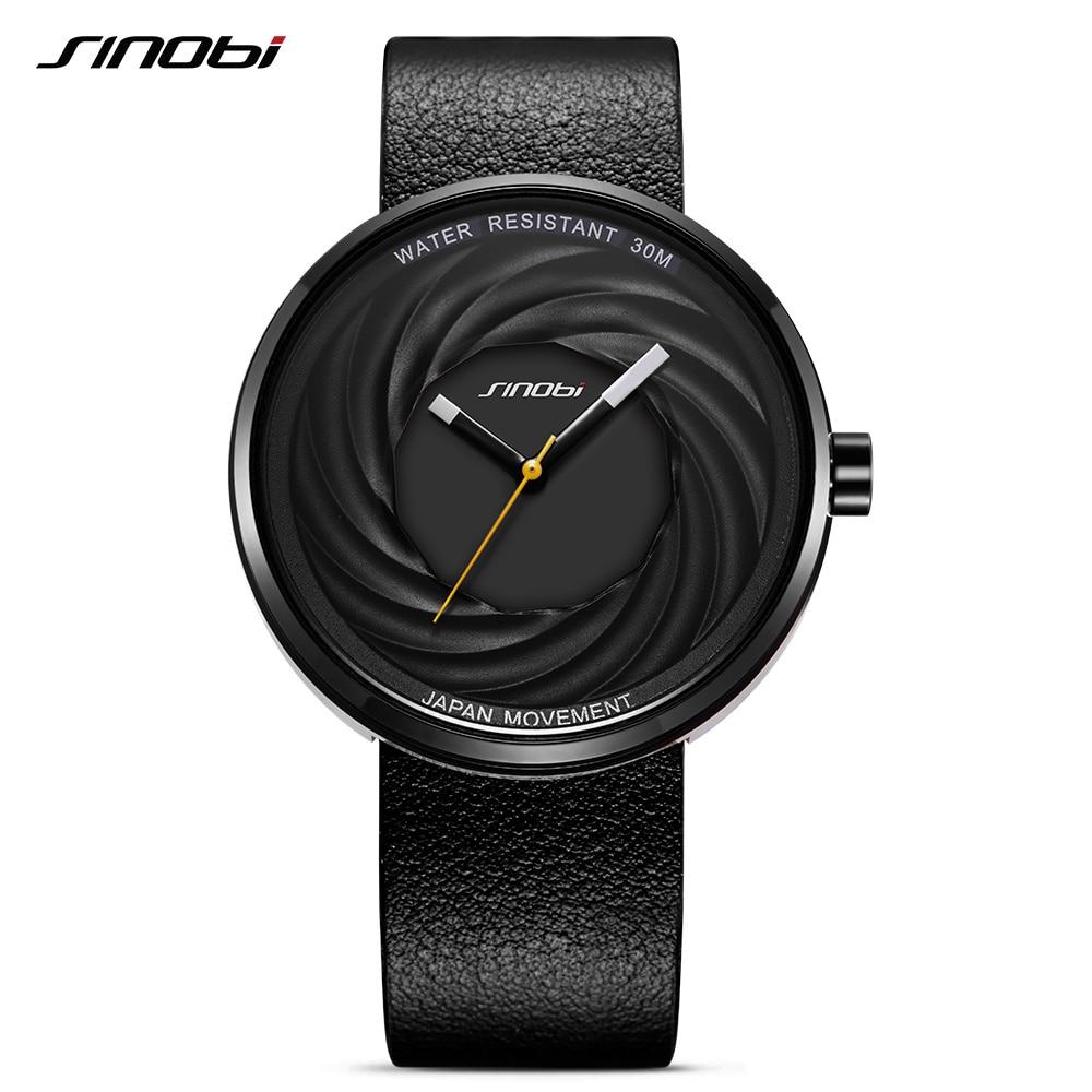 SINOBI márka férfi órák Unisex divat valódi bőr karóra Japán kvarc óra kreatív sport órák Reloj Hombre