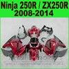 Body Kit Kawasaki Ninja 250r Fairings Black Red EX250 Year 2008 2009 2010 2011 2012 2013