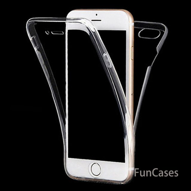 Soft Cell Phone Case for iPhone 6 6S 7 8 Plus X 10 XR XS Max 5S 5 s 5SE Silicon clear 360 full body Touch Screen thin Back Cover(China)