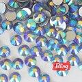 All Sizes Tanzanite AB Non Hotfix Rhinestones Flatback Glass Crystal Rhinestone Nail Art For Nails Decorations H0062