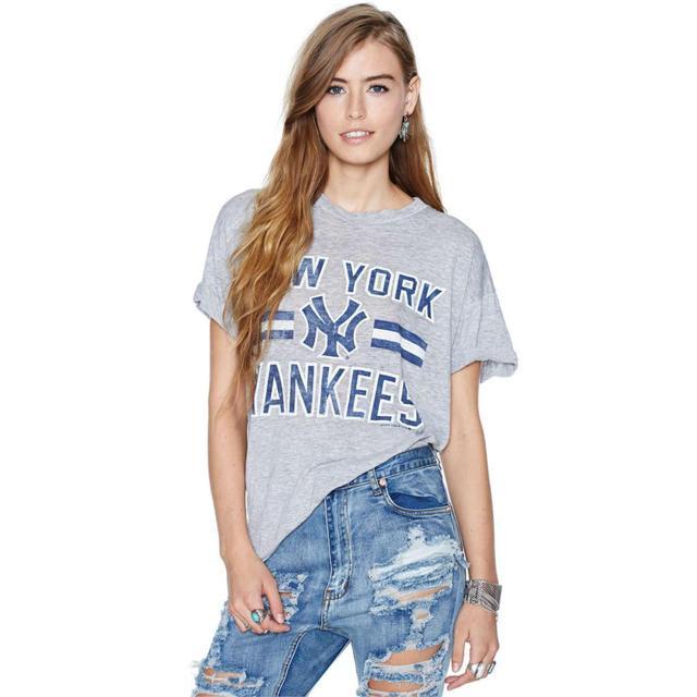 Fashion summer style brand t shirt women tops New York Baseball Yankees  sport loose casual tshirt Plus size women clothing f1aa0567476