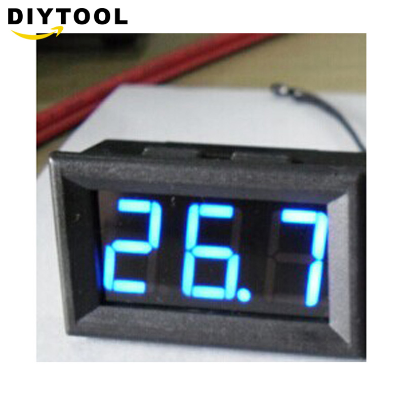 -50-110 Grad Dc 12 V Digital Led Thermometer Auto Temperatur Monitor Panel Meter