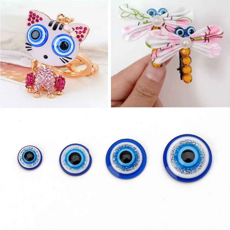 100Pcs 6 8 10 12mm Safety Eyeball for Cute Doll Kids Toy Accessory Made for Luck Evil Eye Protection Charm Beads Jewelry Finding