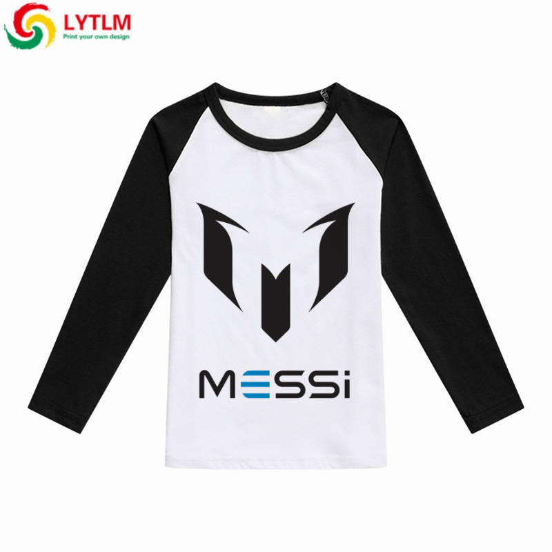 a2467ba6 LYTLM Children T-shirts Cartoon Girl Messi Soccer Jersey T-shirts for Boys  Cotton