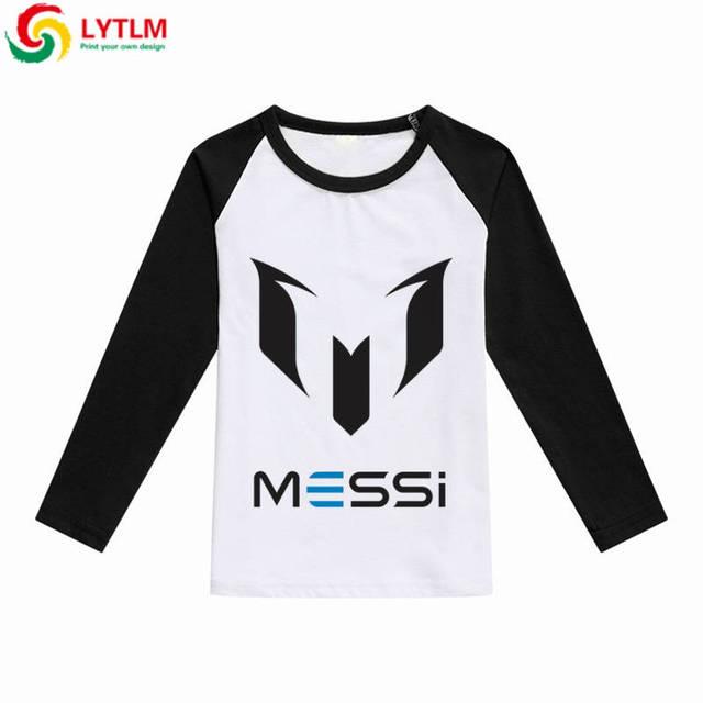 5bf1b0d68 LYTLM Children T-shirts Cartoon Girl Messi Soccer Jersey T-shirts for Boys  Cotton Boy T Shirt for Children vetement enfant fille