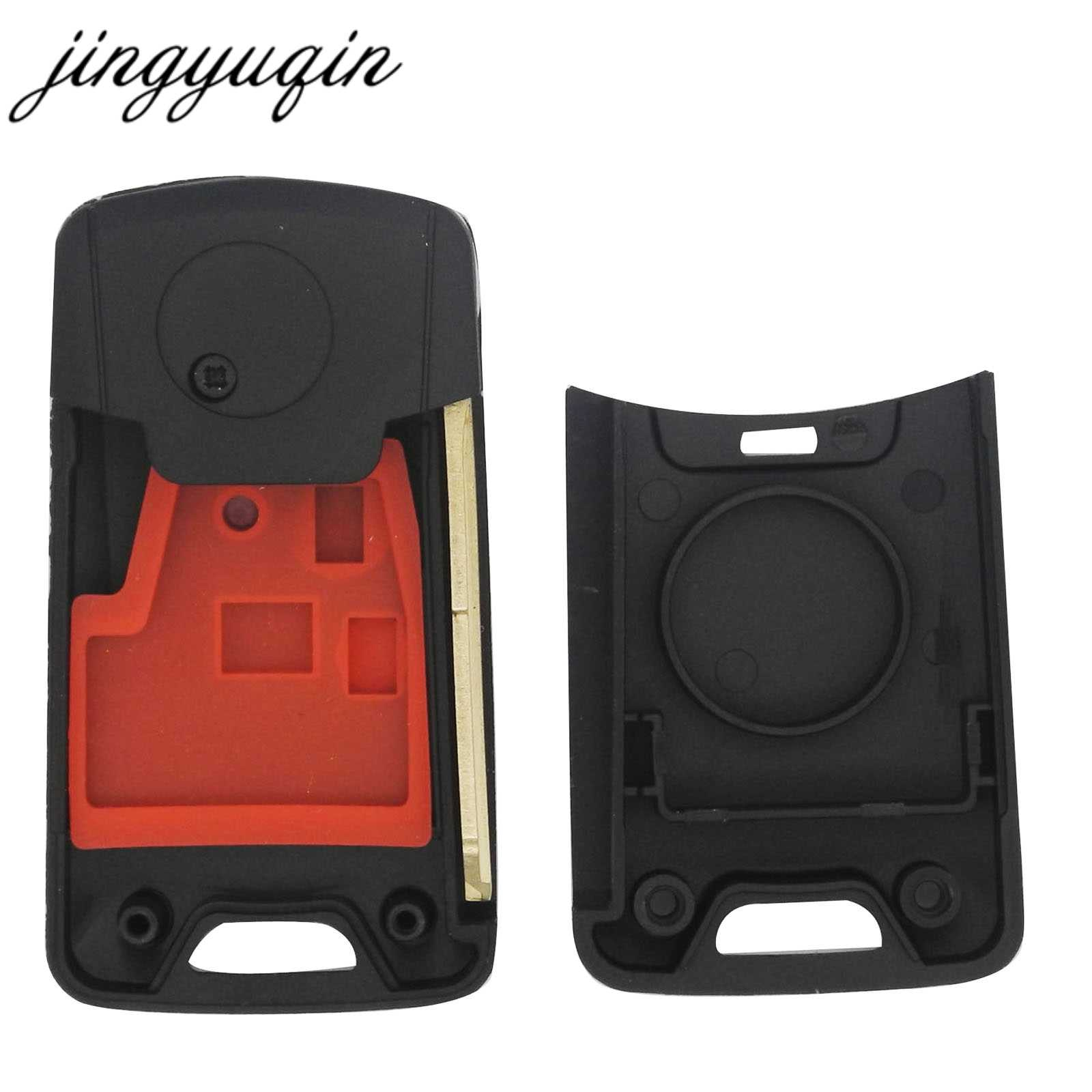 jingyuqin 10pcs Modified 2 Button Folding Key Shell Fob Flip Remote Key  Case for Proton Waja Saga Icin Yedek Anahta Wira Persona