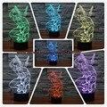 New 3d presente do miúdo maravilha anti-hero deadpool crianças luz da noite usb rc toque colorido conduziu a ilusão da lâmpada do feriado decoração do partido