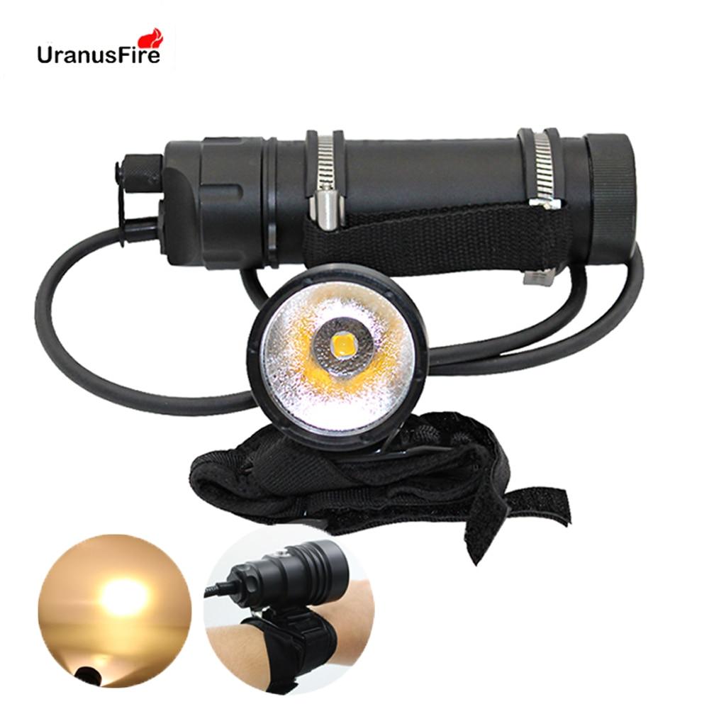 Uranusfire XHP70 XHP70 2 LED Diving flashlight Torch Lamp light Lantern powerful underwater scuba Split Type