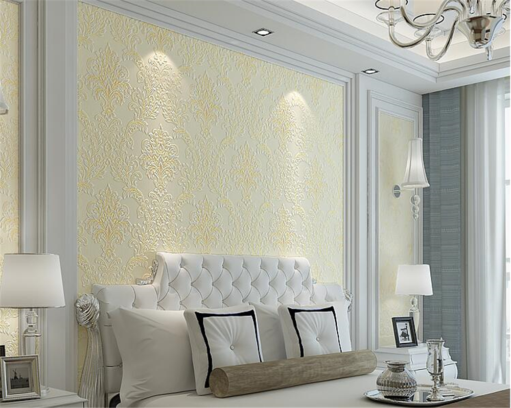 beibehang Luxury 3D embossed wallpaper European style bedroom papel de parede 3d wallpaper living room TV background wall tapety beibehang custom silk screen wall paper fashion beautiful three dimensional flowers european tv background 3d wallpaper tapety