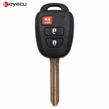 Keyecu 2+1 Button Remote Key with H Chip for Toyota RAV4 Highlander 2013 2014 2015 FCC ID:GQ4-52T