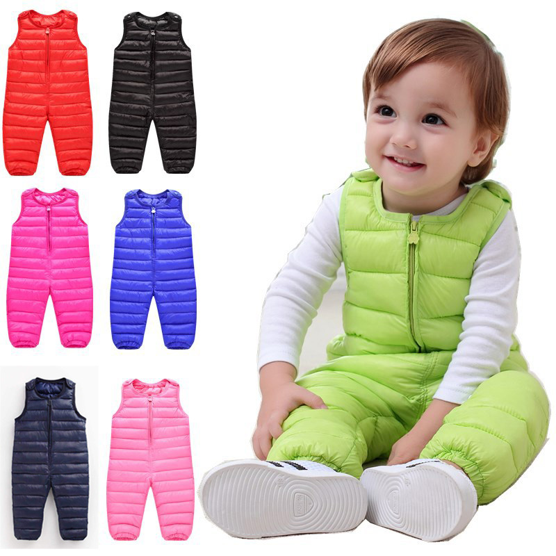 Children pants for girls trousers Cotton Thicken warm winter toddler trousers boys pants waterproof kids pants baby overalls