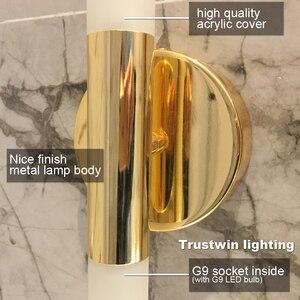 Image 5 - Lâmpada de led de parede, tubo de metal moderno para baixo, luz para parede, para quarto, lavador, sala de estar, banheiro lâmpada led de led