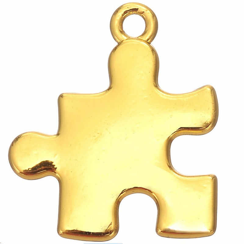 Ювелирные изделия в поисках Diy Металлические болезни головоломки аутизм головоломка кусок кулон для шнур кожаный