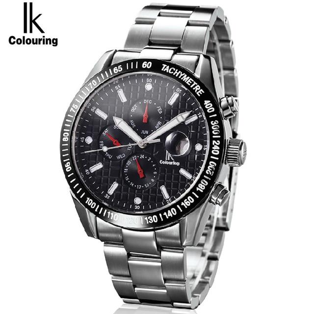 4f616f2832f IK 2017 Mens Relógios Top Marca de Luxo Da Moda Relógio Esqueleto Relógio  Mecânico Automático Dos