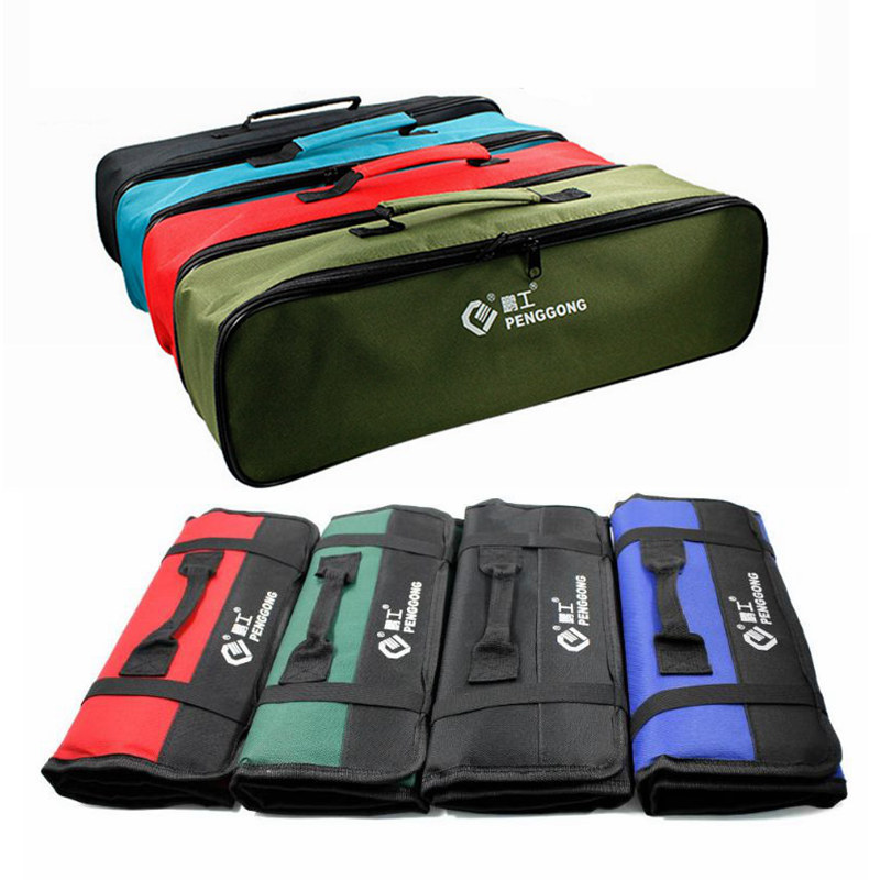 Multifunction Carrying Tool Oxford Bag With Carrying Kit Handle Roll Up Tool Bag