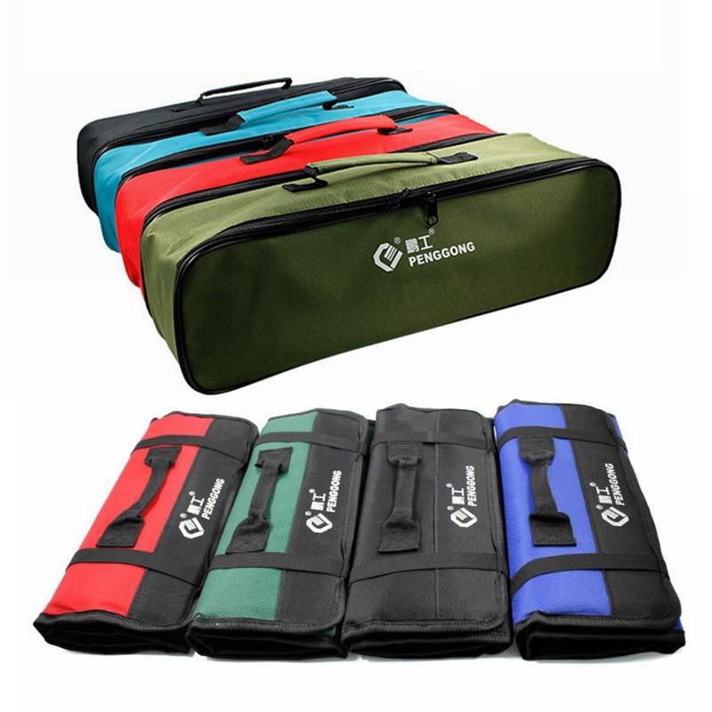 Multifunction Tool Bags Waterproof Practical Carrying Handles Oxford Roll Bags Portable Repair Tool Storage Bag Organizer Case