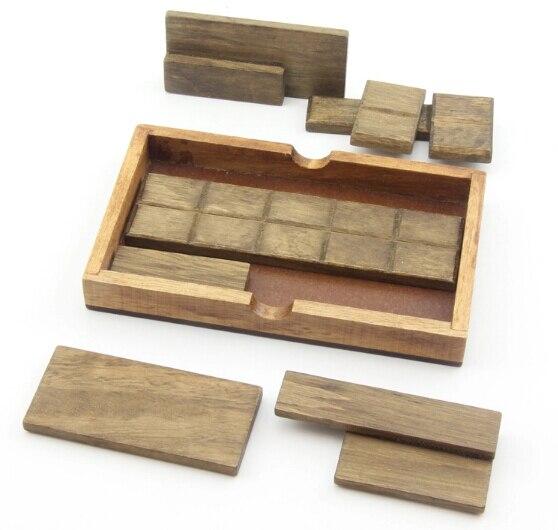 Clasic IQ Puzzle Mind Brain Teaser 2D 3D puzzle din lemn Jucarii - Jocuri și puzzle-uri - Fotografie 2