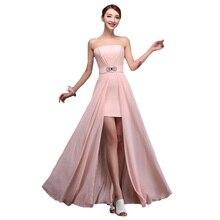 Длинное платье подружки невесты элегантное модератор vestido de festa Longo тонкое свадебное платье без бретелек BV06