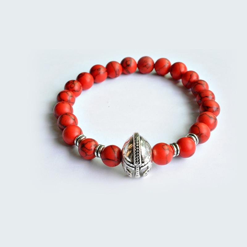 Fashion Women`s Shine Red Turquoises Beads Bracelet or Necklace High Quality Lotus Charm New Design Yogi Bracele Courage