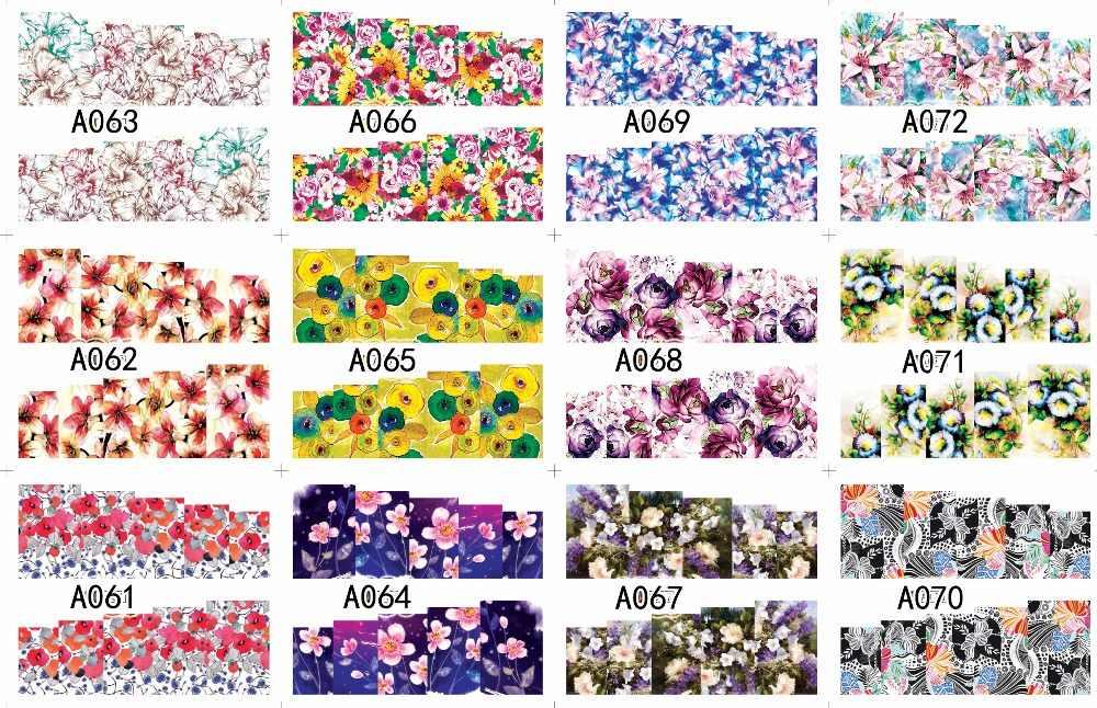 Bán buôn 12 tờ/Bộ Nước hoa Thiết Kế Nhãn Dán Nail Art Stickers Decals Nước Trang Điểm Hình Xăm A49-120