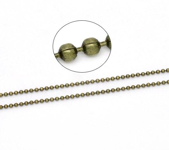 DoreenBeads Bronze Tone Ball Chains Findings 1.5mm Dia. 2M, sold per packet of 1 2015 new спортивная футболка nike 2015 as jordan 23 7 teet 635709
